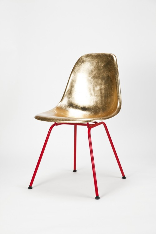 designcloud:  Eames Side Chair Golden by Charles & Ray Eames/Reha Okay