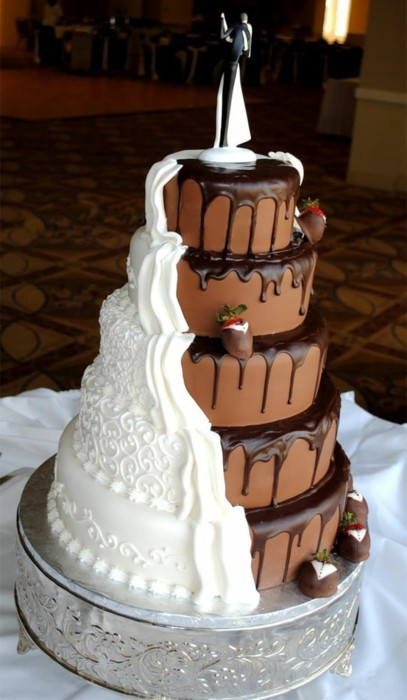 Bryson and Jensen's wedding cake