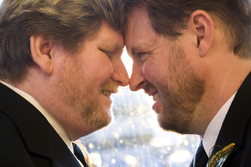fuckyeahbeards:  One of our wedding photos…..