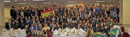 almost 200 exchange students from 30 different countries in Tulsa.