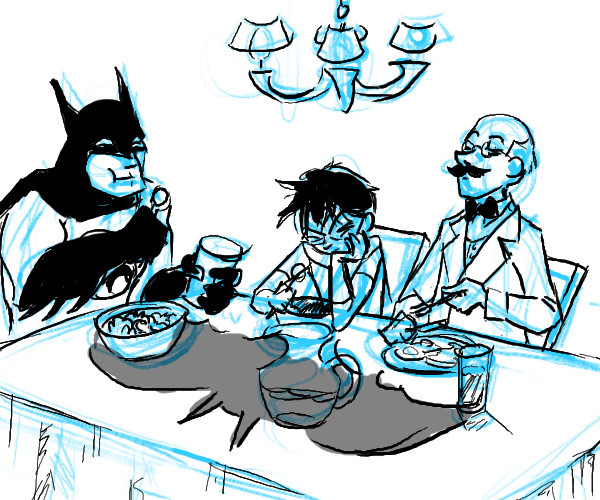 The Bat-Breakfast! Gettin' the fanart in early this week.
