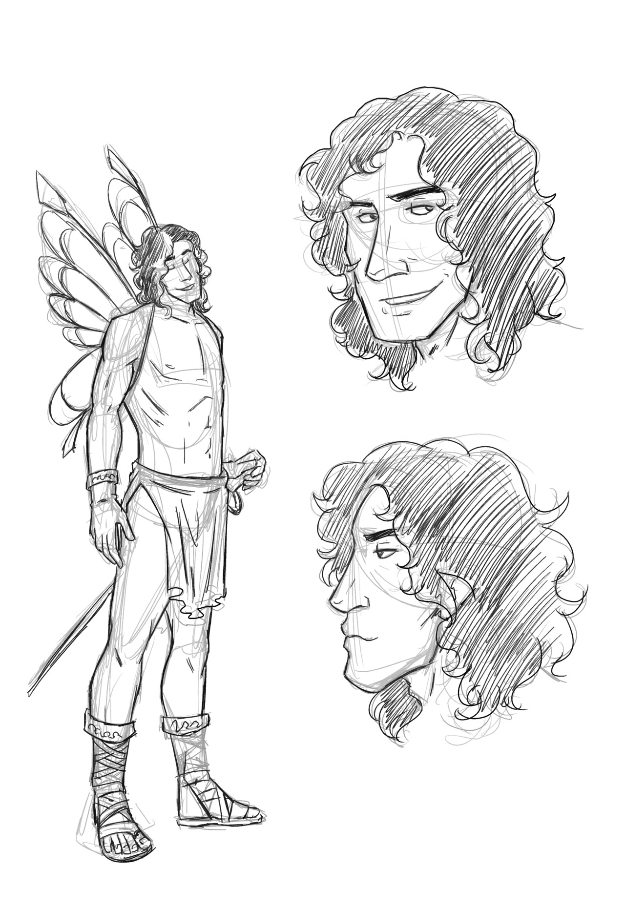 kelmcdonald:  Here is Thomas as he first appears in the Dresden Files. He is going to a  costume party so he has used that as an excuse to be naked as possible.  He's tall and handsome and lean with muscles that are for appearance  more than from working them for certain skills. So I used a figure  skaters build for reference. When making his face I made sure to keep in  mind his family so that there will be a small resemblances. Nothing  obvious, but there if you're looking for it. He also has curly hair to  his shoulders so I had some fun with that.