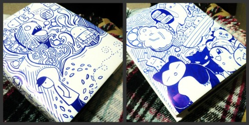 fypblog:  Doodled on a book cover for a friend today, and added a hint of Pokemon :D http://alanamancao.tumblr.com/