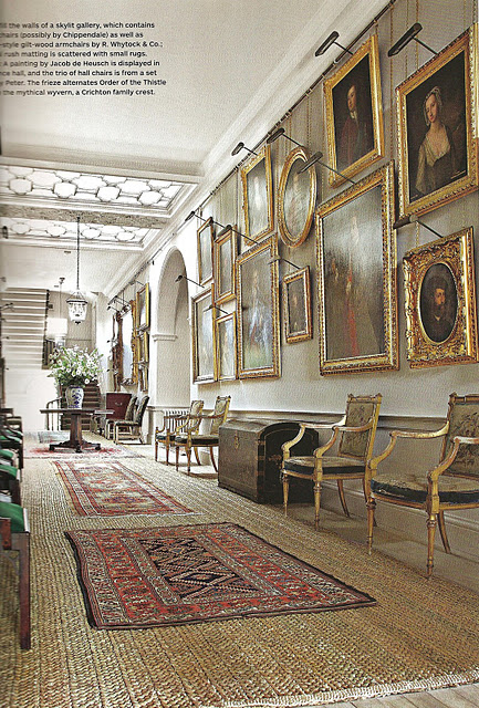 A back issue of Architectural Digest features one of Prince Charles' home. Take a look at the grandeur of his Gallery… It's astounding and aspirational.