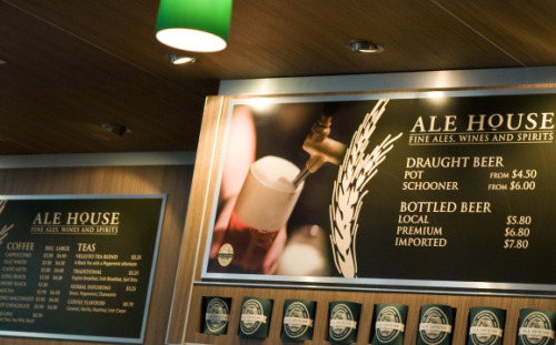 Artshak developed the brand identity for Spotless brand Alehouse located in various airports throughout Australia.