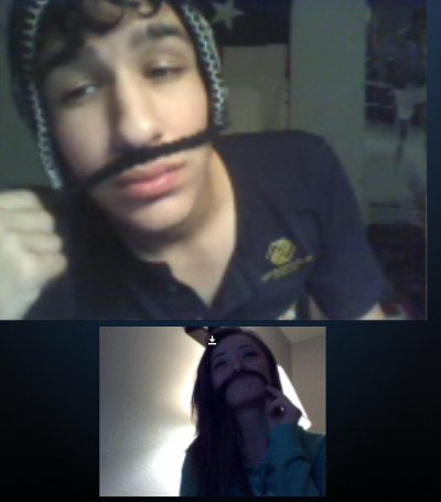 "adrrriano:  Tanya and I ""Mustache Cash Stash!""  (:"