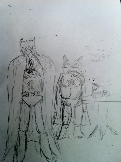 Our first bit of fanart! Sorry for quality, it was sent as a picture message.  <3