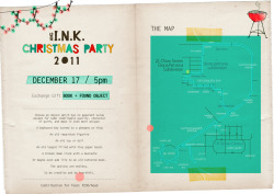 Ang I.N.K. Christmas Party invite