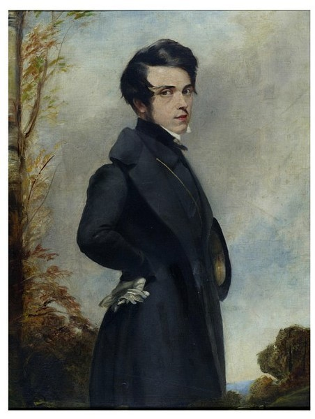 londerlandshop:  Unknown man in frock coat. Oil on Card. France ca.1830. Unknown artist. Victoria and Albert Museum.