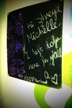 Messages left on my board from quan. <3