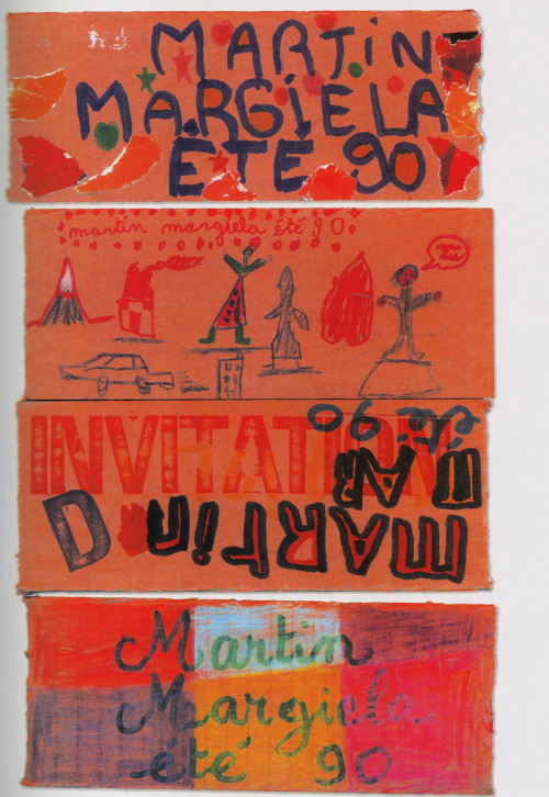 S/S 1990. Women's show. Invitations hand-painted by children from a school located in the showroom's neighborhood.