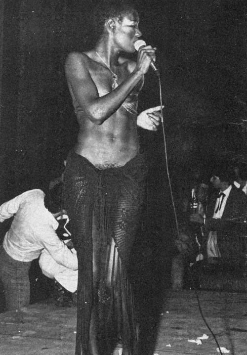lustnspace:  Grace Jones: The Palace, Paris 1978