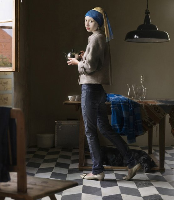 dirtyprettything:  (via Fancy - The Pearl Earring by Dorothee Golz)  My favorite piece of art/ book.