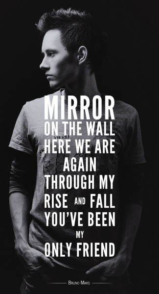 designersof:  Mirror by Lil Wayne and Bruno Mars. Photograph by me.