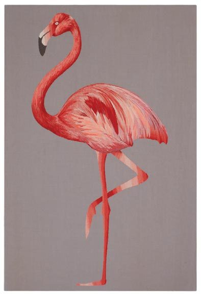 Flamingo tapestry, found via The Rug Company