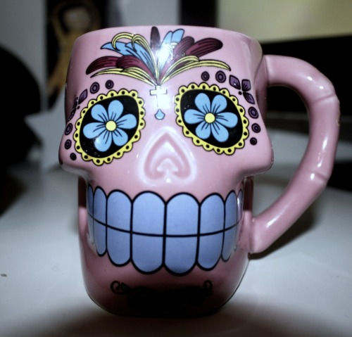 vodkaandteeth:  My skull mug, of coffee.