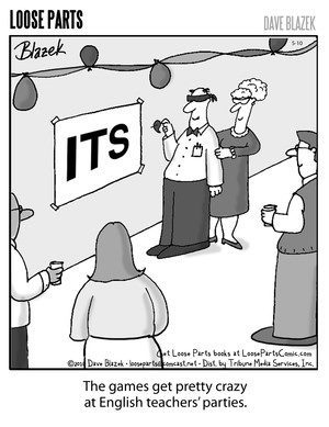 """Things get pretty crazy at English teachers' parties."""