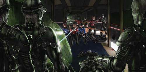nerdwire:  The Borg Have Adapted by Raymond Tan You know, it's not often you see some really cool Star Trek art.  And artist, R-Tan thinks so too.  So he made this sweet piece to show the world that Star Wars isn't the only universe that can have really awesome fan artwork.  Click through his gallery to see more amazing film inspired works.