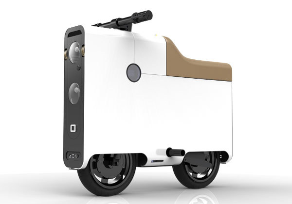 "BOXX electric bike: two wheels, four corners, all-electric transport for one — Engadget Has bicycle design reached its pinnacle? Or are electric bike manufacturers just not trying hard enough? The YikeBike begs to differ, and here joining it is BOXX Corporation's diminutive  BOXX. Coming in at just under a meter (or 36-inch inches) long, the 120  pound aluminum ""bike"" has a top speed of 35 miles per hour and can even  haul up to 300 pounds of heft. Yet, despite that compact footprint, the  company hasn't skimped on tech, as it boasts traction control, anti-lock  brakes and yes, even LED lights. Available in one of ten colors, $3,995  nets you a base 40-mile range model, which can optionally be doubled to  80 by ticking the $599 CORE 2 box."