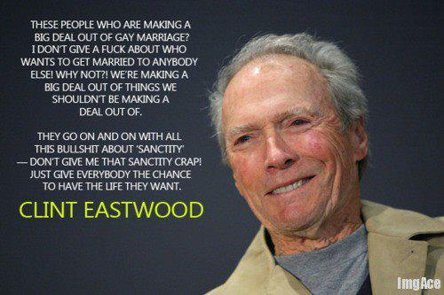 """Go ahead. Make my day."" (Clint Eastwood) Clint, YOU DA MAN!!!! BRA-FUCKIN-VO!!! \0/"