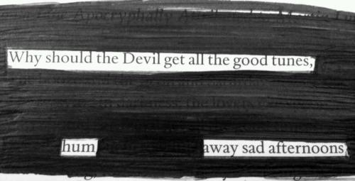 A blackout by fluxphoto:     why should the devil get all the good tunes   hum away sad afternoons