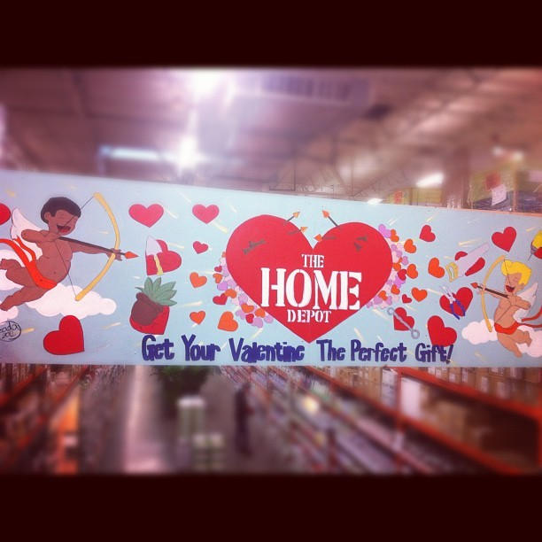 Happy Valentine! (Taken with instagram)  zada  mural for The Home Depot, Seattle