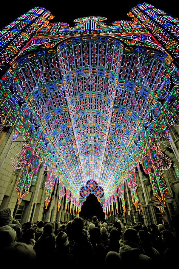 A Cathedral made of 55,000 LED lights, click through for more.  via urhajos