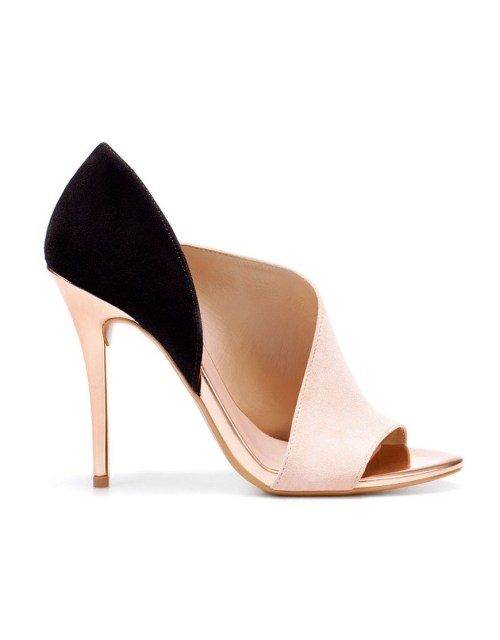 The perfect s/s shoe! Laminated Heel Sandal - Zara - £49.99 They are beautiful, the colour and design are the absolute essence of what SS12 is about. Get them while you can!