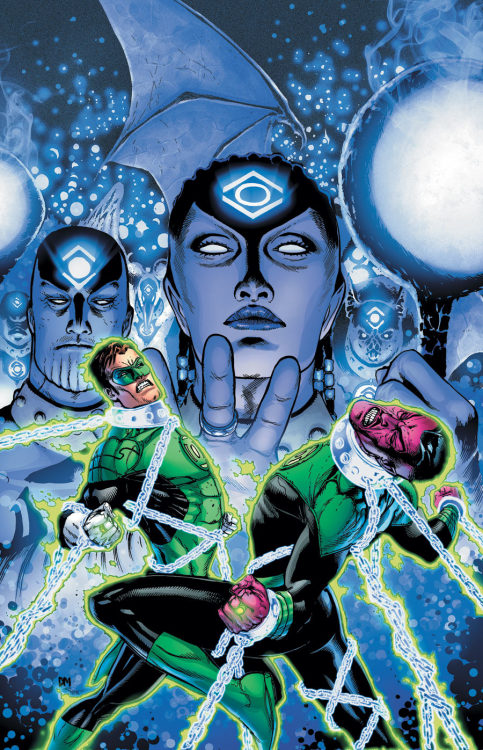 Green Lantern (Hal Jordan) and Green Lantern (Sinestro) lose to the Indigo Tribe on the cover to Green Lantern #7 from DC.