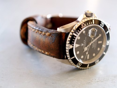 Gunny Straps - Handmade Watch Straps This Arillo series strap on this Sub looks AMAZING. Unfortunately just the strap costs $165.