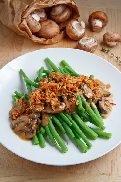 Deconstructed Green Bean Casserole by Kevin - Closet Cooking on Flickr.