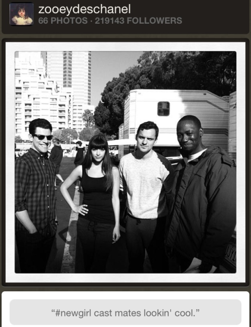 #newgirl cast mates lookin cool