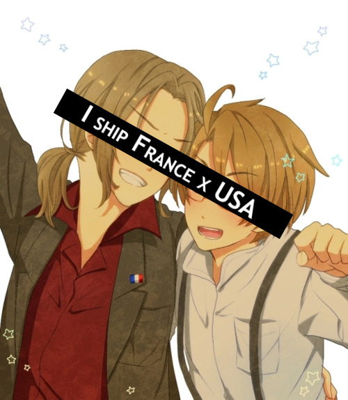 hetaliashippingconfessions:  I used to ship France x USA really hard because I'm American and I really liked this French girl once upon a time.  I like the story with this confession. I ship FrUS too dear =w=