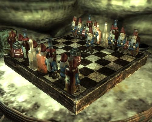 fuckyeahfallout3:  It's always Gnome Chess time.