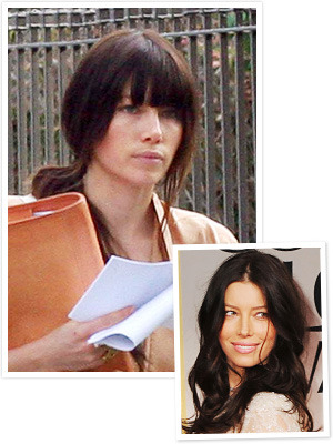 "What do we think of Jesse's new bangs? They are for her upcoming role in, ""Emanuel and the Truth About Fishes"" which is currently filming in Los Angeles."