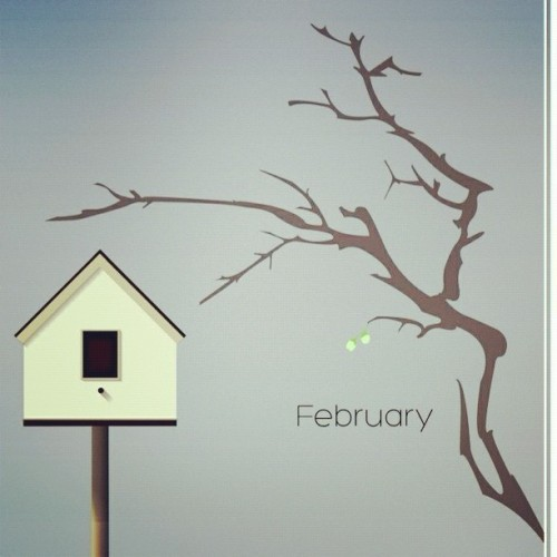 Months of the Year: February (first draft) || part of a design series to improve my skills in illustrator (Taken with instagram)