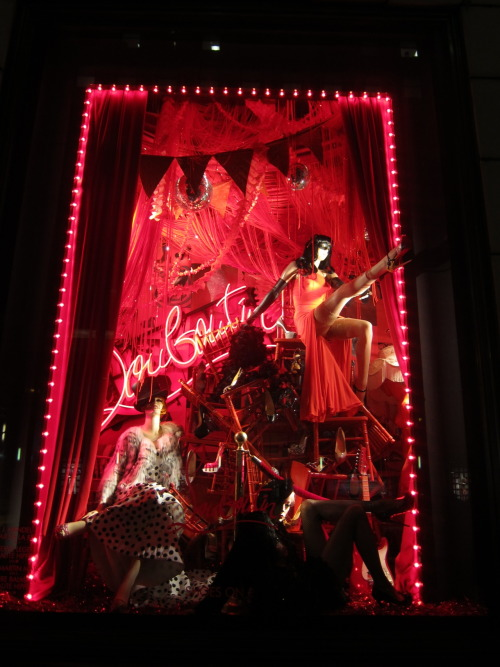luckymag:  It certainly is. bergdorfgoodman:   Our Christian Louboutin Windows: The Mischief is Contagious.