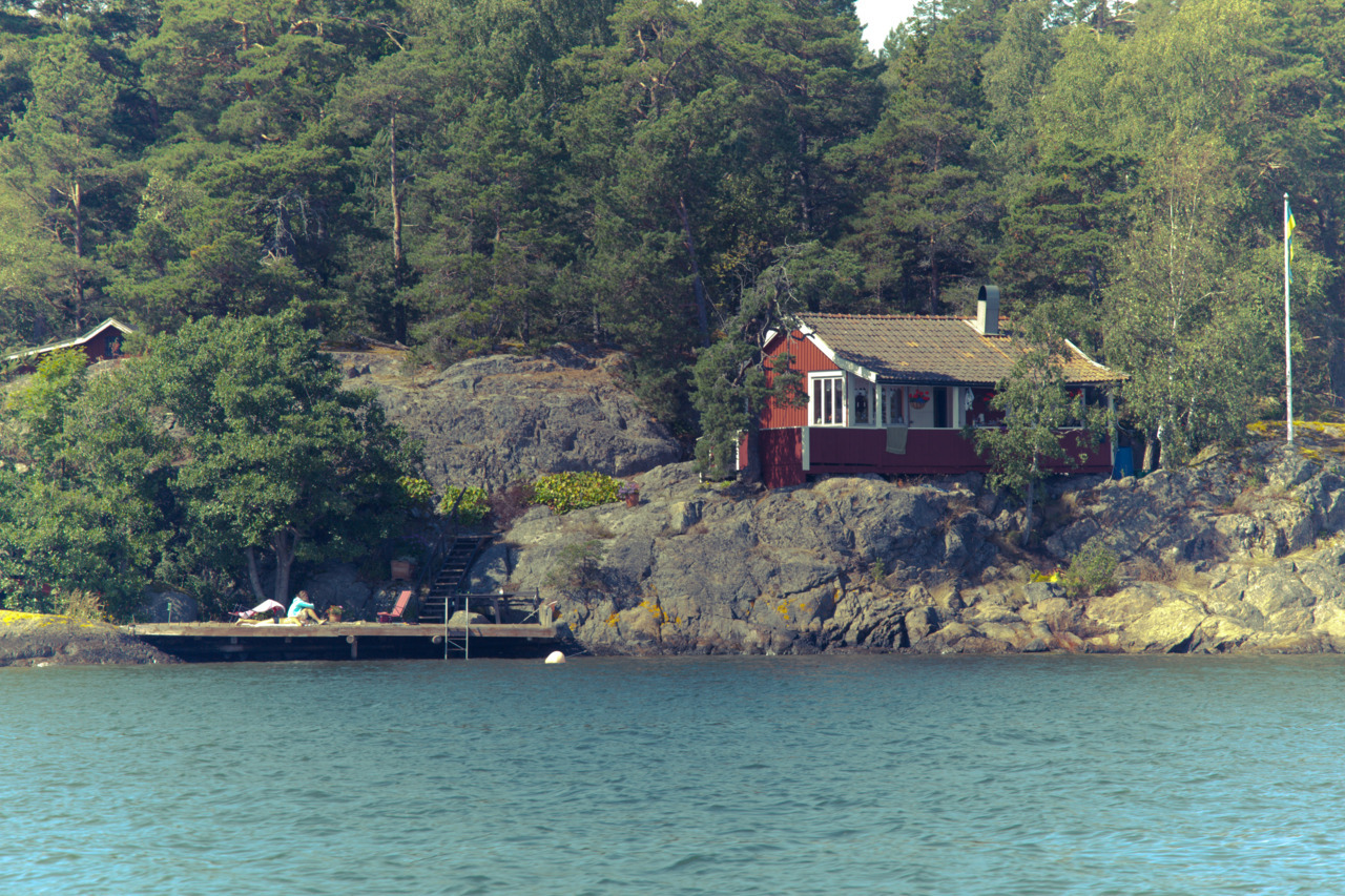 House by the sea on an small island - Stockholm archipelago, Sweden