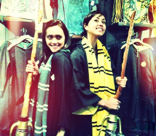 "meganddia:  Calling all Gryffindor's to read my NEW Blog: ""Unfortunately, our quest to find the infamous Harry Potter ""Butter Beer"" did not end successfully. I'm a little embarrassed to admit that Robert, our tour manager, much to Dia's horror, pulled the ""Do you KNOW who this is?!"" card. He leaned in to hiss into the poor ticket lady's ear, ""This woman standing beside me is ""Dia Frampton"" from NBC's 'The Voice'!"" Dia shuffled nervously from …""To read the rest please visit: www.chandlertherobot.blogspot.com"