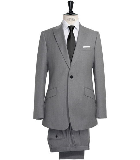Reiss Abingdon peak lapel suit (Spring/Summer 2011)As worn by Moriarty in The Reichenbach Fall One button single breast, slanted pocket detail. 70% wool.£455 / $718 No longer available. New season suits here.