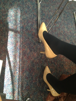 Great way to rock nude pumps in the winter! Thanks Brittany :)