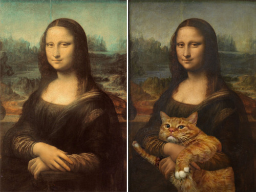 m-ethadone:  Famous paintings improved by cats