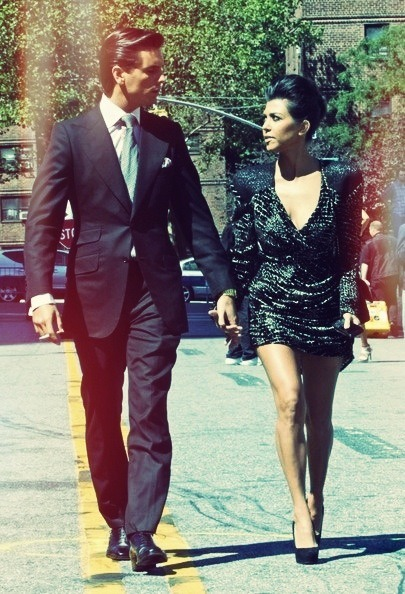 A well dressed couple can rule the world.