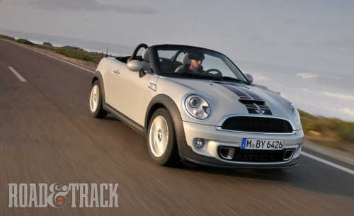 More front-drive nirvana from Mini: the new 2012 Mini Cooper S Roadster. (Source: Road & Track)