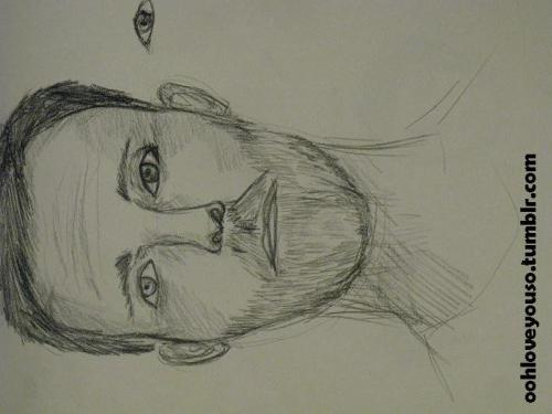 Weird sketch of a man… I noticed that I actually draw men really rare.