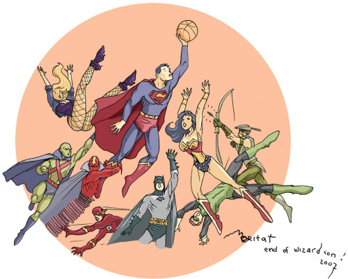 lulubonanza:  JLA basketball by *moritat