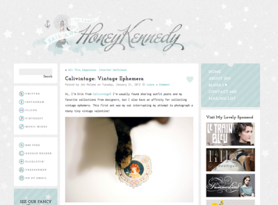 i have a little guest post over on honey kennedy today, and my little kitty friend makes an appearance! go check it out!