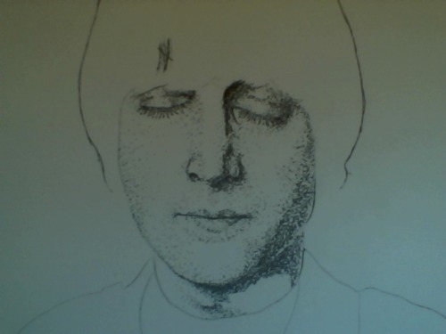 a new stippling of John.. not nearly done, still have work to do on the face.