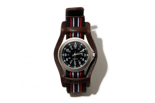 hobo Hideout Quartz Watch Inspired by military goods, the hobo Hideout Quartz Watch is available in three different colors for Spring 2012. Featuring leather bands, striped accent pieces appear below and above the bezel which creates a bold aesthetic that offsets the watch face nicely. Designed for a wearer always on the go, the Hideout Watch is the perfect choice and is available at select retailers for ¥16,590 JPY (approximately $216 USD).