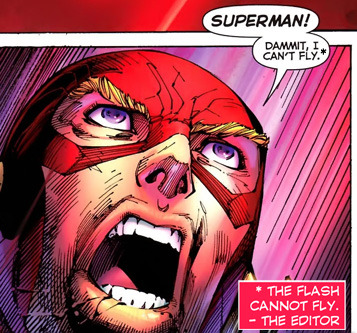 The Flash from Justice League #5 (2012) by Geoff Johns and Jim Lee.